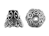 TierraCast Antique Silver Spiral Cone Bead Cap each