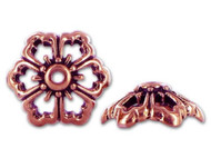 TierraCast 12mm Antique Copper Open Poppy Bead Cap each