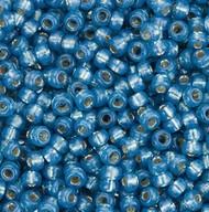 Miyuki Seed Bead Size 15/0 Denim Blue Dyed Alabaster Silver Lined SB 0648