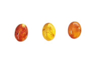 Amber Cabochon 18x13mm Oval Low Dome - each