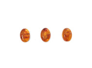Amber Cabochon 14x10mm Oval Low Dome - each