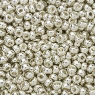 Miyuki Round Seed Bead Size 6/0 Silver Galvanized Duracoat SB 4201