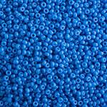 Miyuki Round Seed Bead Size 15/0 Cornflower Blue Opaque Duracoat SB 4484