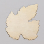 Metal Blank  Leaf  Brass 40x50mm 24ga