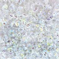 Matubo MiniDUO 2x4mm Crystal AB 8gm Tube DU0400030-28701-TB - each