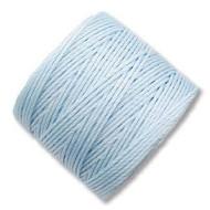 Superlon Sky Blue Fine Bead Cord Tex 135 118 yards - each