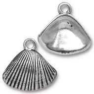 TierraCast Antique Silver Shell Charm each