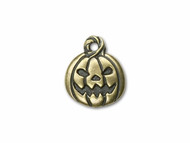 TierraCast Antique Brass Jack O'Lantern Charm each