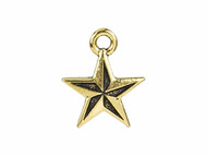 TierraCast Antique Gold Nautical Star Charm each