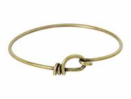 TierraCast Antique Brass Wire Bracelet