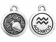 TierraCast Antique Silver Aquarius Charm each
