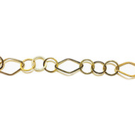 Gold Filled Chain Fancy - per foot (23797)