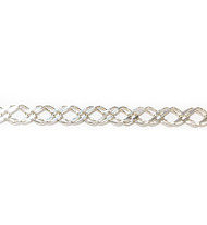 Sterling Silver Dapped Fancy Curb Chain 7x4mm - per foot
