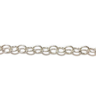 Sterling Silver Chain Cable 7.4x6mm - per foot (21113)