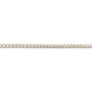 Sterling Silver Chain Flat Curb 1.6mm - per foot (42168)