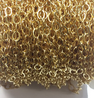 Gold-Filled Chain Flat Oval Cable 4.7x3.6mm - by the 100' roll