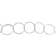 Sterling Silver Diamond-Cut Circular Chain - per foot