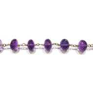 Vermeil Chain with Amethyst 8mm - per foot