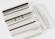 Silver Zamak Extra-Wide  Magnetic Clasp 62x22mm (Inner 58x2.5mm for multiple pieces of flat leather) - each