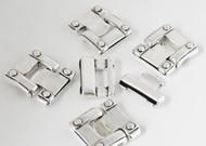 Silver Zamak Clasp 38x34mm (Inner 29x2.5mm) - each