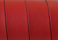 European Flat Leather Red 20x1.5mm - per inch