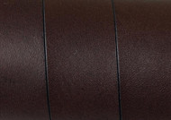 European Flat Leather Dark Brown 20x1.5mm - per inch