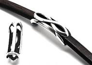 Silver Zamak Infinity Slider 45x14mm (Inner 10x7mm) - each