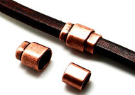 Copper Zamak Magnetic Clasp 22.5x15.5mm (Inner 10x7mm for licorice leather) - each