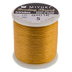 Miyuki Nylon Bead Thread Size B Gold 50M