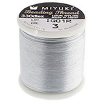 Miyuki Nylon Bead Thread Size B Silver 50M