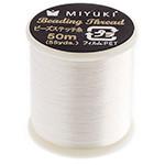 Miyuki Nylon Bead Thread Size B Eggshell 50M