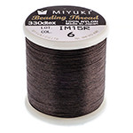 Miyuki Nylon Bead Thread Size B Brown 50M