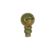 Guru bead tower pair Unakite 10x16mm