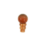 Guru bead tower pair Orange Banded Agate 10x16mm