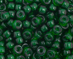 Crow Bead - Glass Transparent Dark Green 6mm