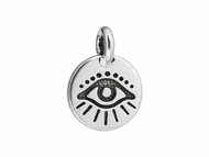 TierraCast Antique Silver Evil Eye Charm each