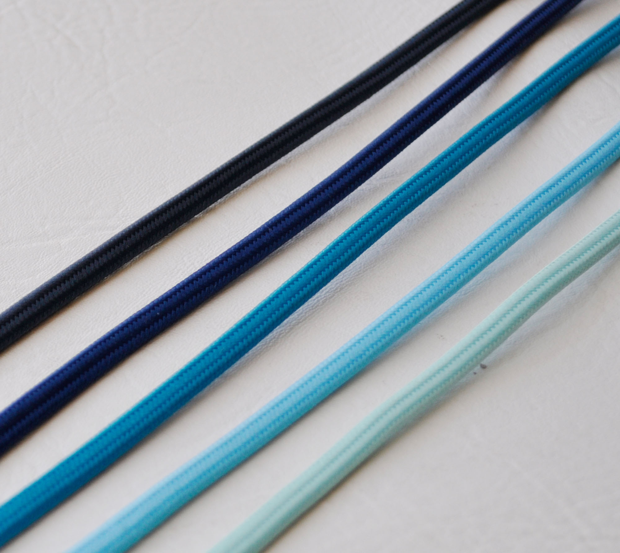 blue solid cloth wire