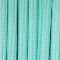 Sky Blue - Flat Cloth Covered Wire (250 Ft / Roll)