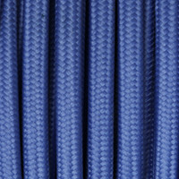 Medium Blue - Flat Cloth Covered Wire (250 Ft / Roll)