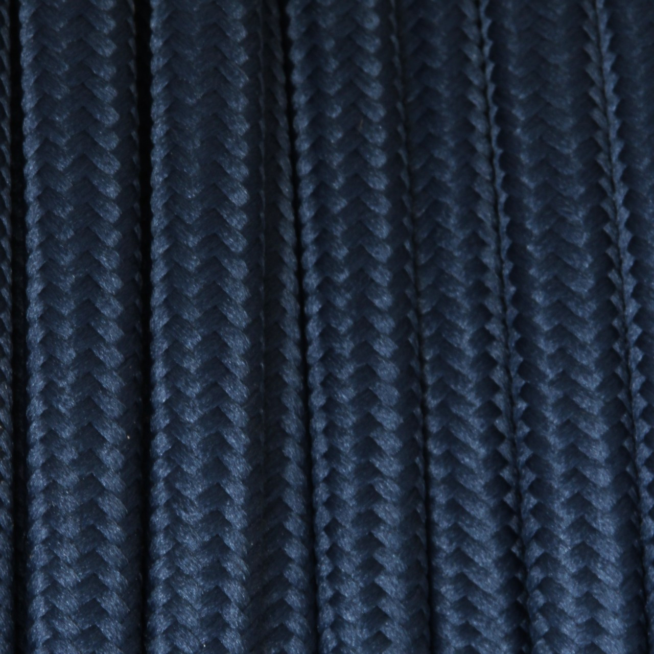 Dark Blue Flat Cloth Covered Wire 250 Ft Roll