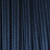 Dark Blue - Flat Cloth Covered Wire (250 Ft / Roll)