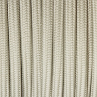 Silver - Flat Cloth Covered Wire (250 Ft / Roll)