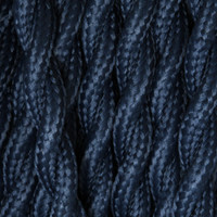 Dark Blue - Twisted Cloth Covered Wire (250 Ft / Roll)