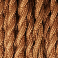Copper - Twisted Cloth Covered Wire (250 Ft / Roll)