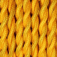 Gold - Twisted Cloth Covered Wire (250 Ft / Roll)