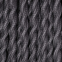 True Gray - Twisted Cloth Covered Wire (250 Ft / Roll)