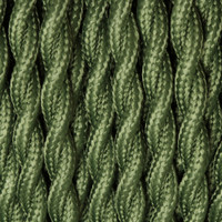 Forest Green - Twisted Cloth Covered Wire (250 Ft / Roll)