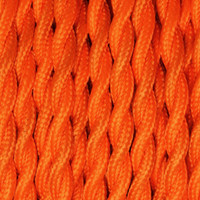 Orange - Twisted Cloth Covered Wire (250 Ft / Roll)