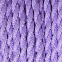 Medium Purple - Twisted Cloth Covered Wire (250 Ft / Roll)