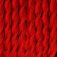 True Red - Twisted Cloth Covered Wire (250 Ft / Roll)